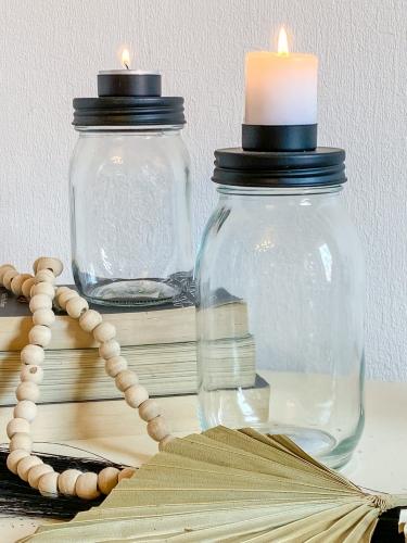 Kerzenglas für Teelichter 2 Größen