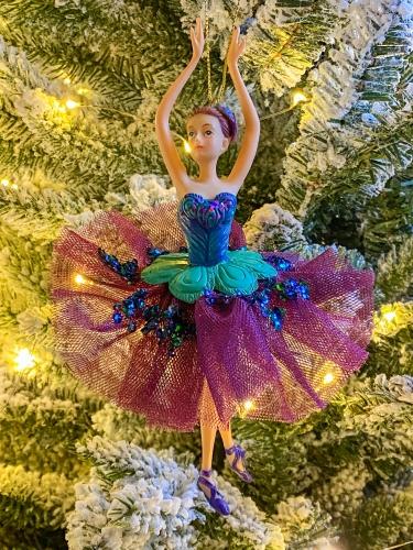 HD Hänger Baumschmuck Ballerina Lila