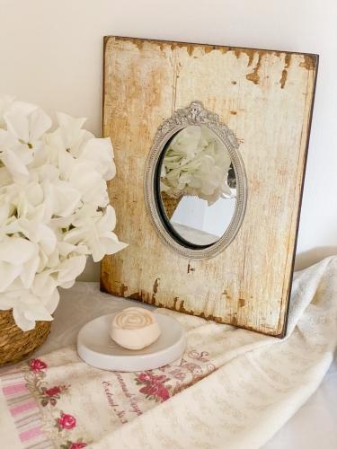 Clayre & Eef Shabby Wandspiegel Oval