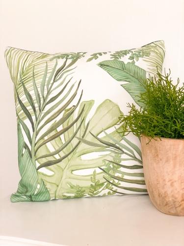 Clayre & Eef Kissenbezug Pflanzen