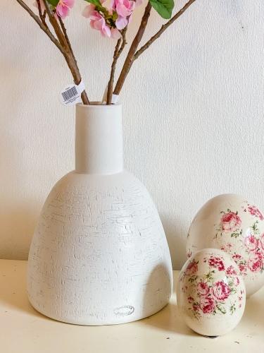 Blumenvase Weiß 30 cm